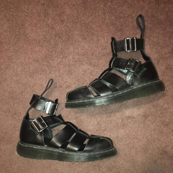 cba83493af2 Dr. Martens Shoes - Dr Martens Geraldo black sandal gladiator unisex